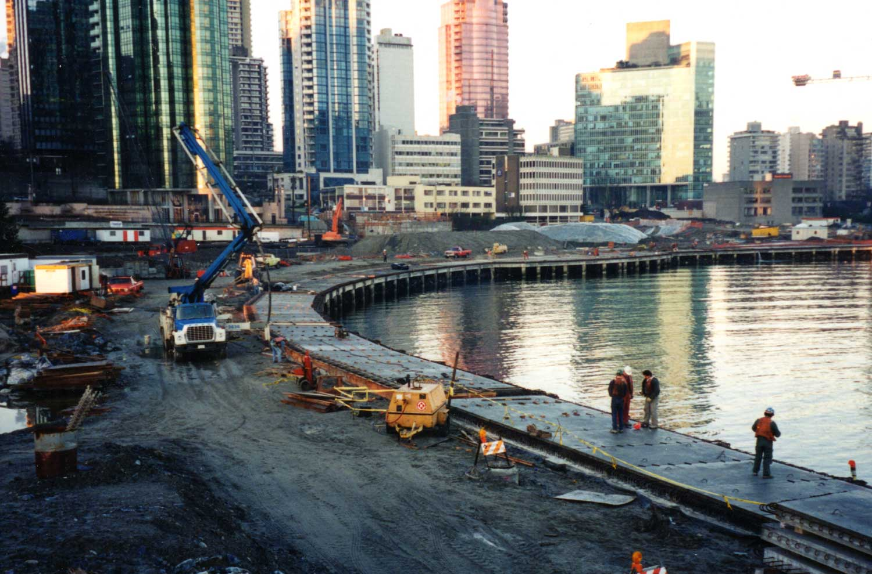 Vancouver seawalk landscape construction